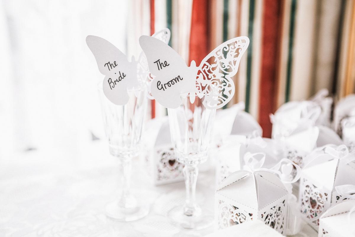 wedding table prep