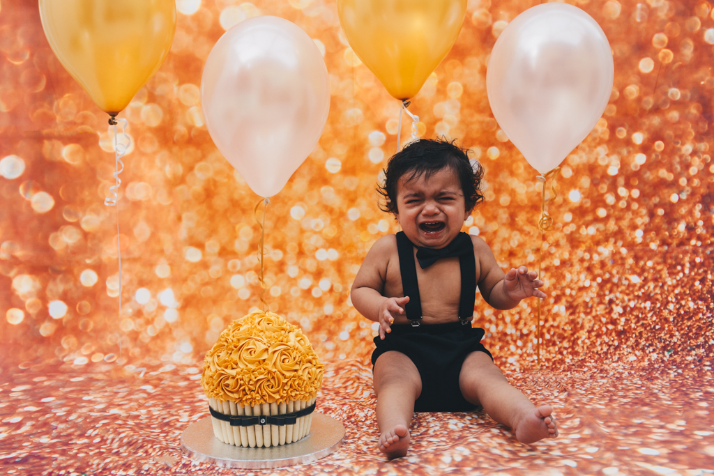 cake smash photography session manchester